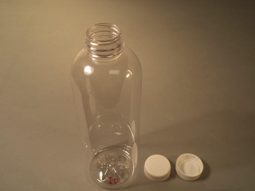 1 Liter Round Bottle Plastic bottle sold by Crystal Vision Packaging Systems