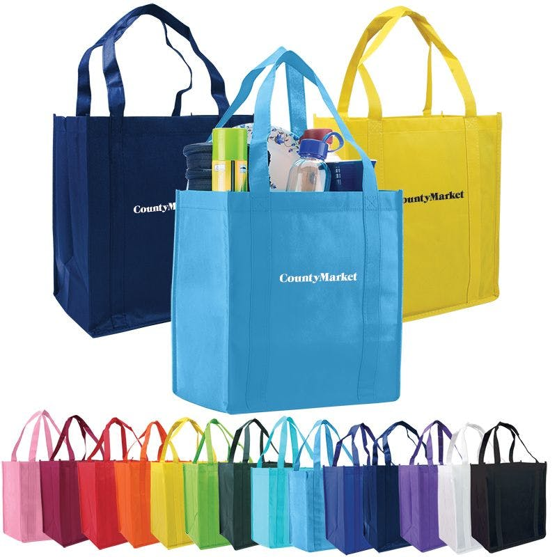 Atlas Non Woven Grocery Tote Bag Bag sold by Ink Splash Promos™, LLC
