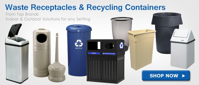 Waste Receptacles & Recycling Bins Janitorial supplies sold by BettyMills.com
