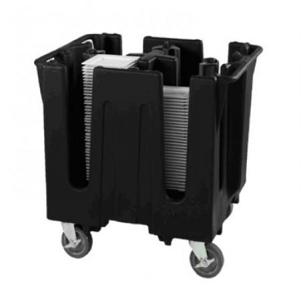 6 Stacks Black Plastic Portable Dish Caddy - V-VOLSAC-6-06