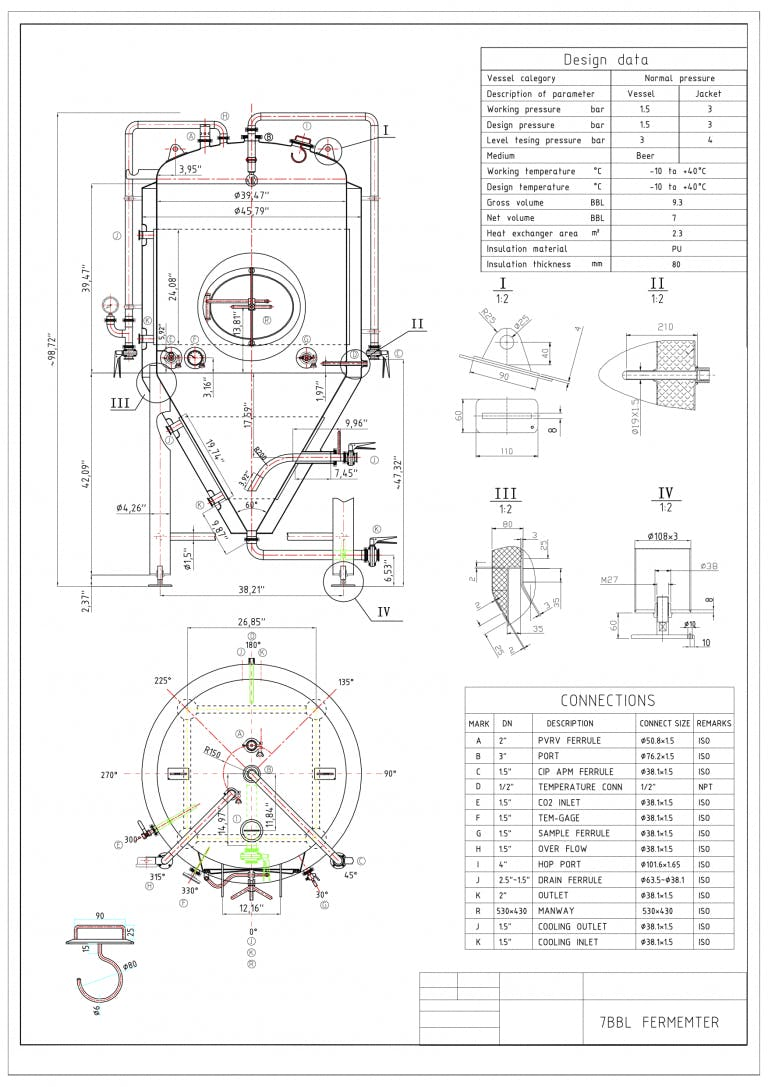 7 BBL Jacketed Uni-Tank - sold by CraftMaster Stainless