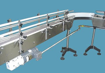 Table Top Chain Conveyors Conveyor sold by Inline Filling Systems