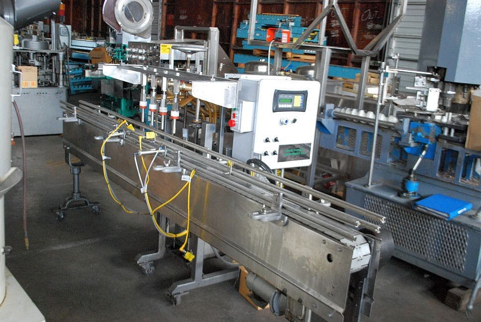 4 head inline filler Bottle filler sold by Ager Tank & Equipment Co.