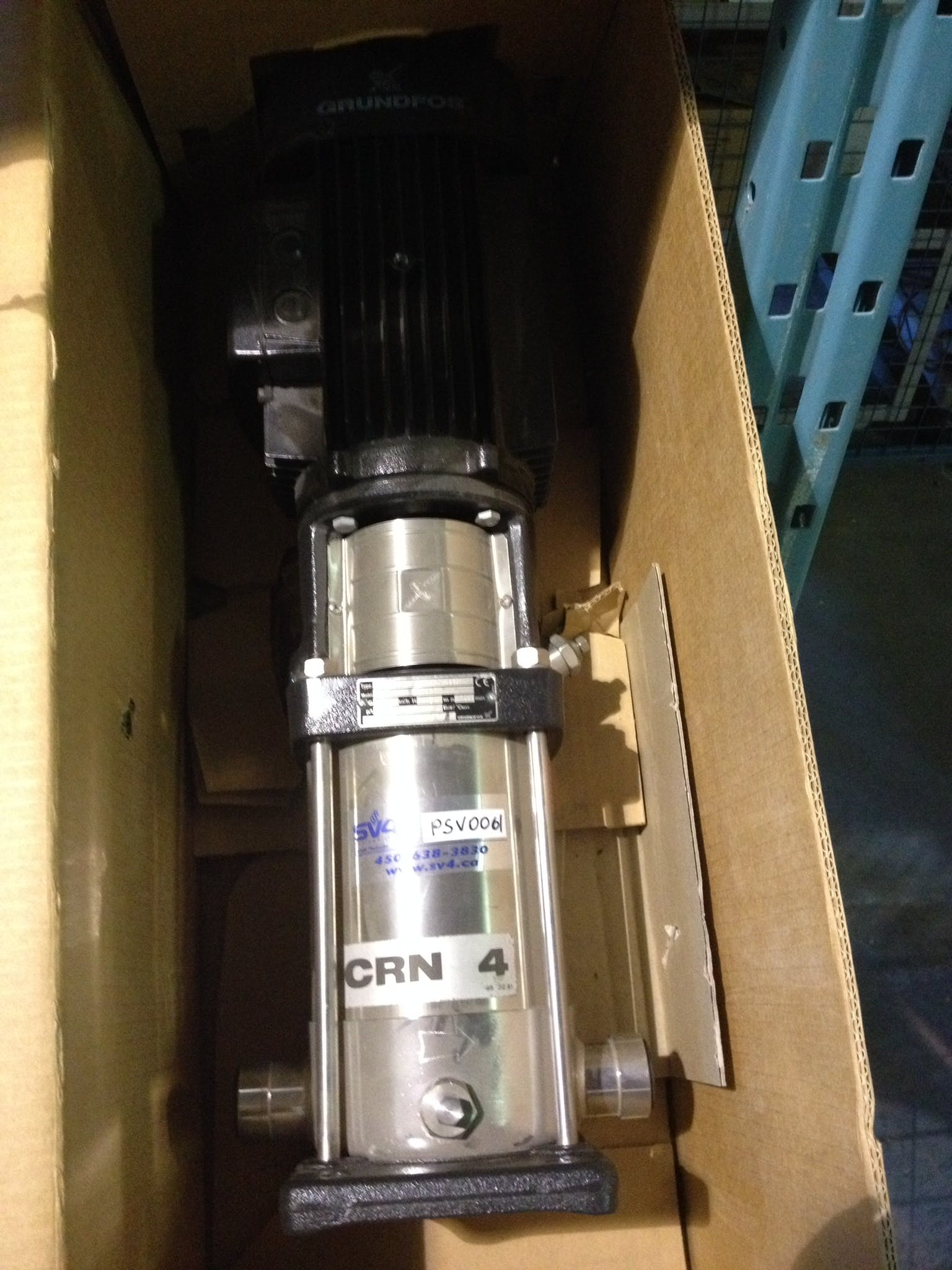 GRUNDFOS CRN 4-60 A-P-G-AUUV Process Pump Transfer pump sold by Aevos Equipment