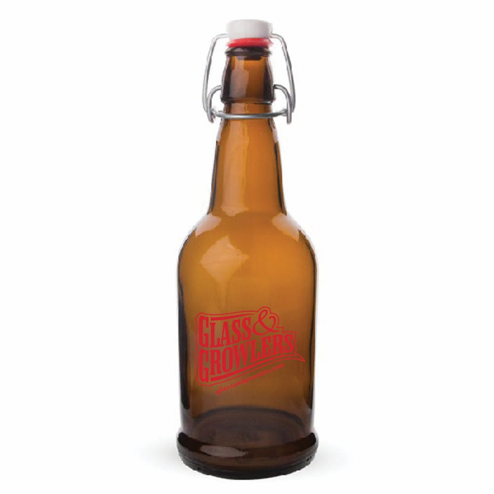 1L EZ Cap Amber Growler sold by Glass and Growlers