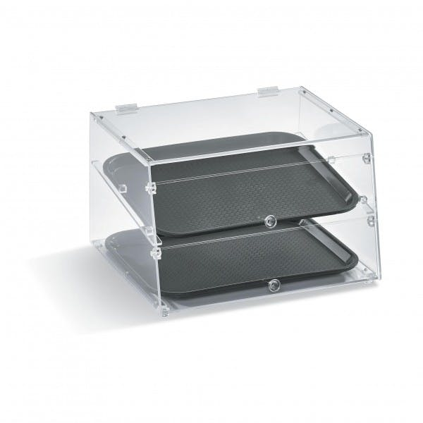 2 Tray Slanted Front Display Case