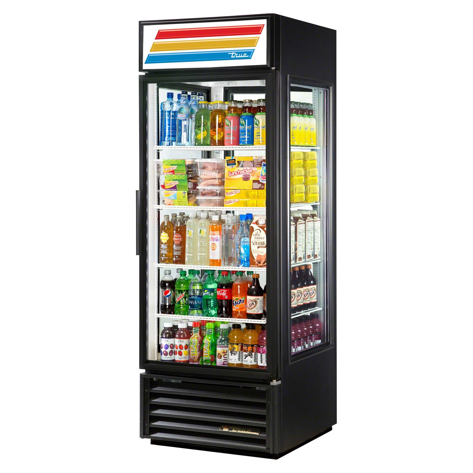 "True - G4SM-23-LD 28"" Glass Four Sided Merchandiser Refrigerator LED Commercial refrigerator sold by Food Service Warehouse"
