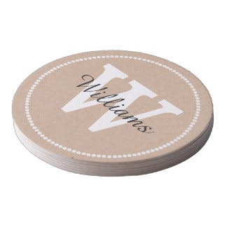 Pulpboard Costers  Drink coaster sold by Casa Amarosa