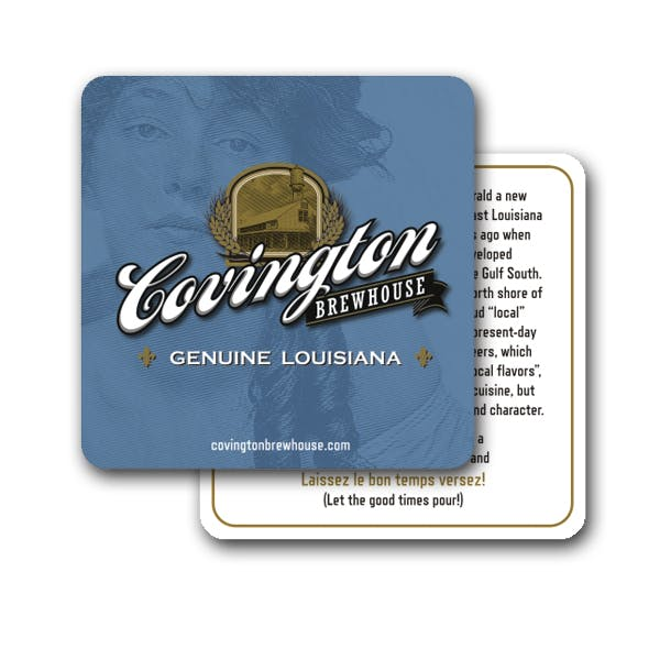 3.75 in Square Coaster (35 Pt) Drink coaster sold by MicrobrewMarketing.com