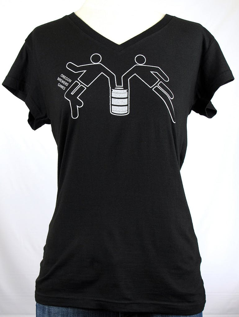 LADIES looptworks upcycled v-neck - Oregon Brewers Games Promotional shirt sold by Brewery Outfitters