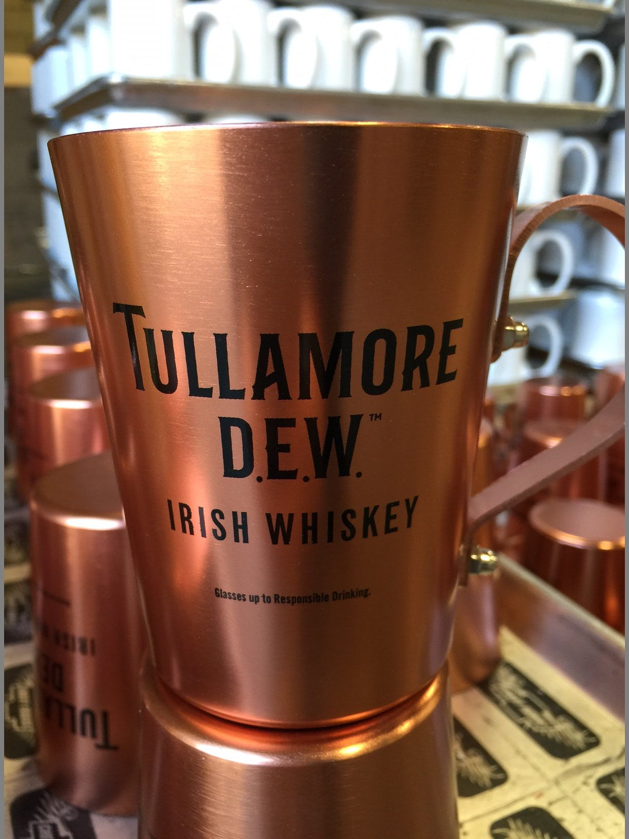 Rivet Screen Printed - Moscow Mule Copper Mugs Decorated - Screen Printed or Laser Engraved - Minimum 60/72 pcs. - sold by Circle Star Pro
