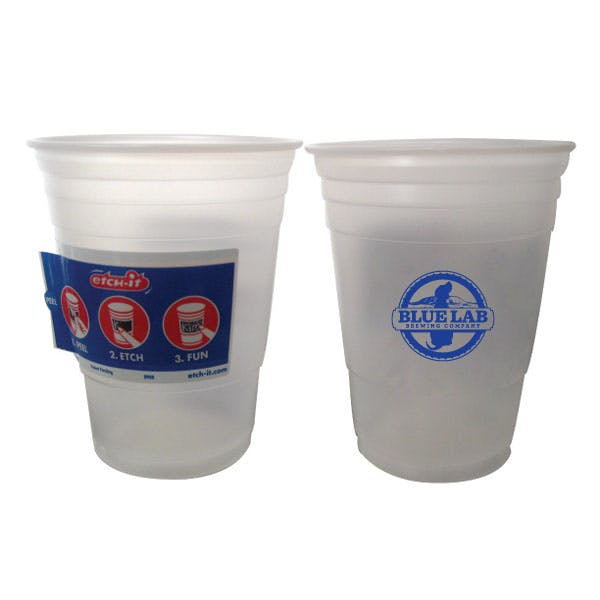 Etch-It Cup Party Cup Plastic cup sold by MicrobrewMarketing.com