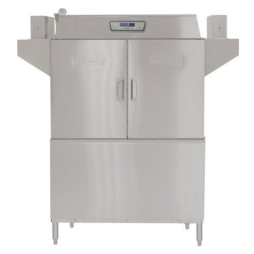 Hobart CL44E-2 Conveyor Dishwasher, R/L, 15 KW Tank Heater, 30 KW Booster, 208/60/3 Commercial dishwasher sold by Mission Restaurant Supply