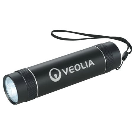Illuminator 3000 mAh Power Bank Flashlight - 3350-65 - Leeds Promotional flashlight sold by Distrimatics, USA