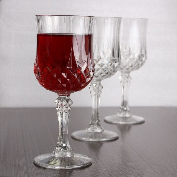 Crystal-Like Wine Glasses Disposable cup sold by www.blueskyny.com