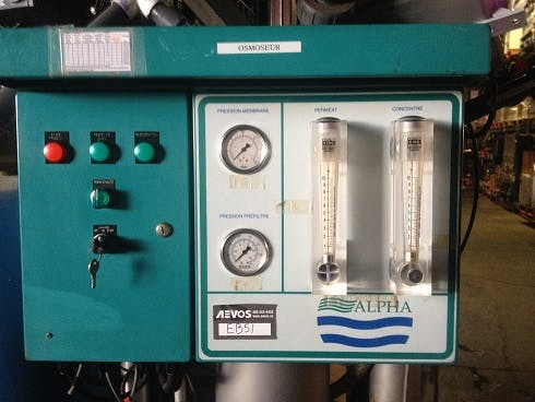 ALPHA Reverse Osmosis system - sold by Aevos Equipment