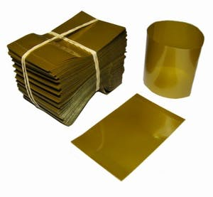 Gold Shrink Bands for Sauce Bottles with 38mm Finish Shrink band sold by Fillmore Container Inc