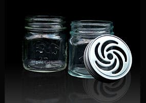 Square Contempo Jar Glass Jar sold by Kaufman Container Company