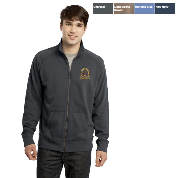 DT Vintage French Terry Track Jacket Promotional apparel sold by MicrobrewMarketing.com