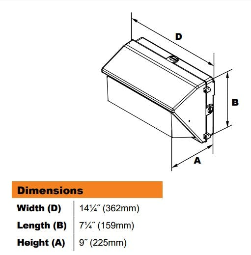 DuraGuard Medium LED Wall Pack 41W - sold by RelightDepot.com