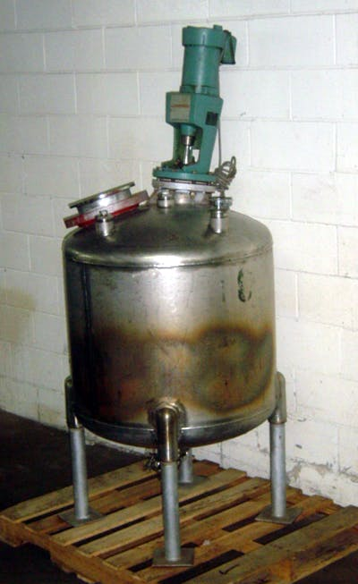 PERRY 100-GAL S/S VACUUM TANK W/LIGHTNIN' MXR Mixing tank sold by Union Standard Equipment Co
