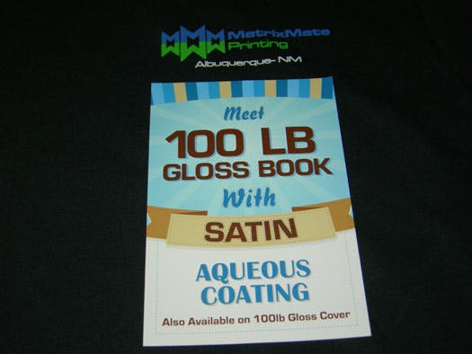 FLYER ON 100LB GLOSS BOOK WITH SATIN AQ - sold by Meilestone
