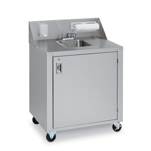 Crown Verity CVPHS-3 Portable Hand Sink - 3 Compartments Sink sold by Mission Restaurant Supply