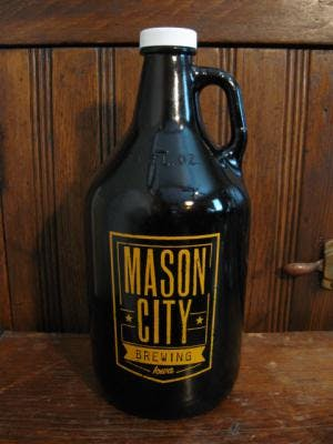 64 oz. Amber Growler Growler sold by Promotional Concepts of Wisconsin