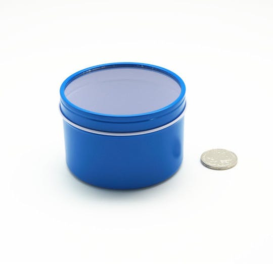 Deep Rust Proof Window Lid Tin Can - Blue Metal tins sold by Mimi Pack