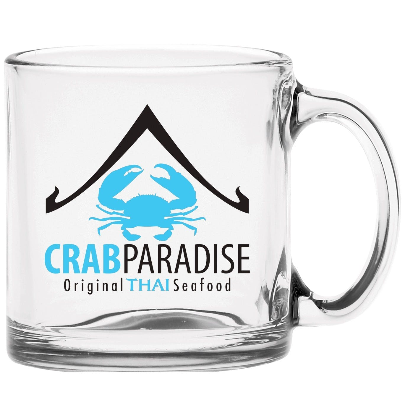 13 oz Clear Glass Coffee Mug