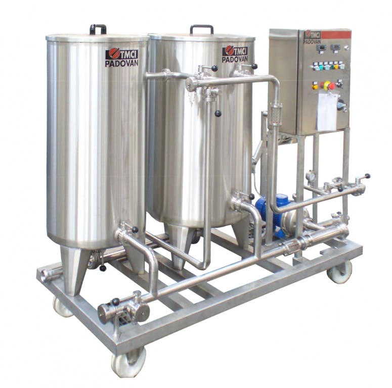 TMCI PADOVAN CIP 2TANKS CIP Systems CIP system sold by Prospero Equipment Corp.