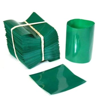 Green Shrink Bands for Hot Sauce Bottles with 24mm Finish