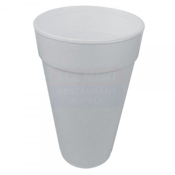 24 oz. White Disposable Foam Big Drink Cup