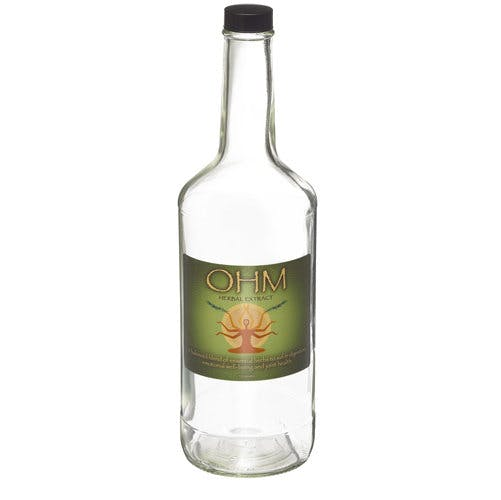 32 oz (946 mL) Clear Liquor & Spirit Glass Bottles (Optional Black Phenolic Caps) - sold by Freund Container & Supply