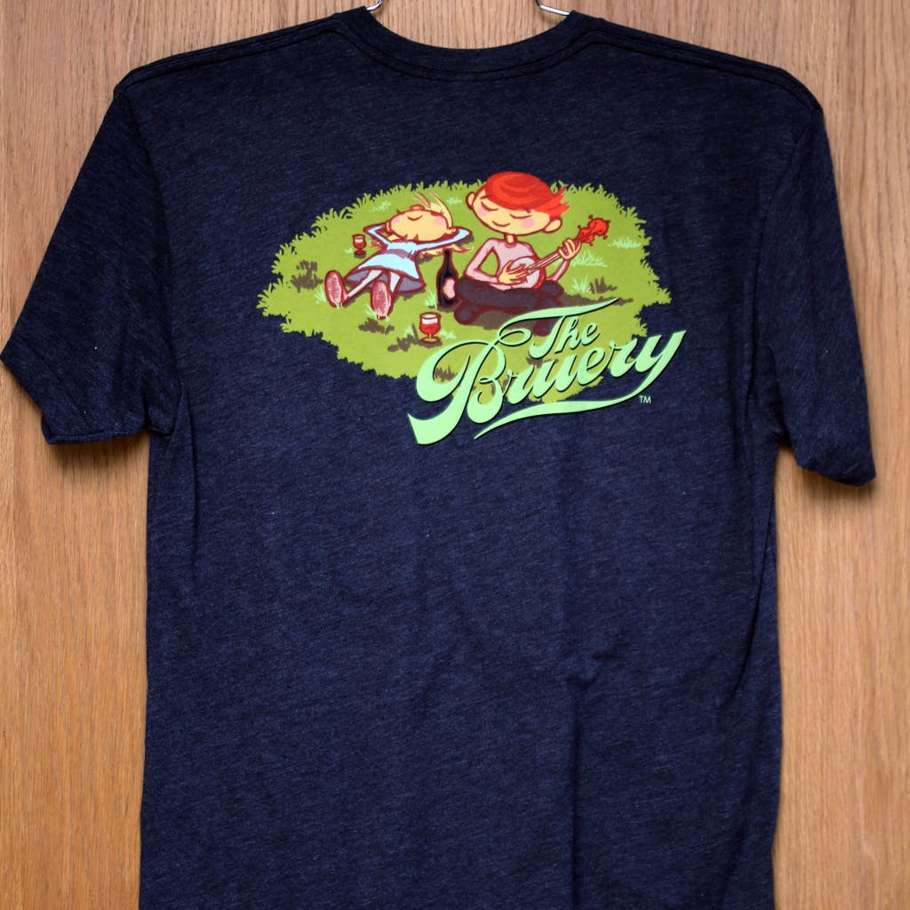 50/50 Tee - The Bruery - picnic Promotional shirt sold by Brewery Outfitters