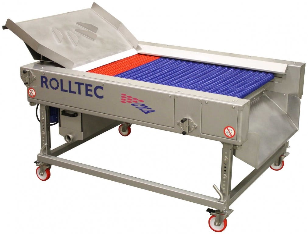 C.M.A. ROLLTEC Grape crusher/destemmers Grape crusher/destemmer sold by Prospero Equipment Corp.