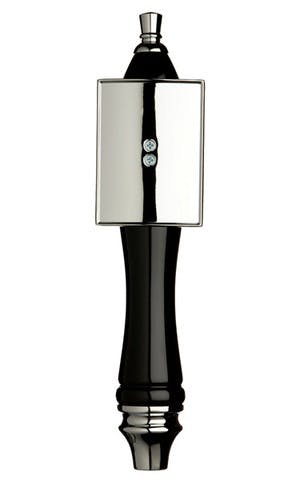 Black Pub Tap Handle with Silver Rectangle Shield Tap handle sold by Taphandles LLC