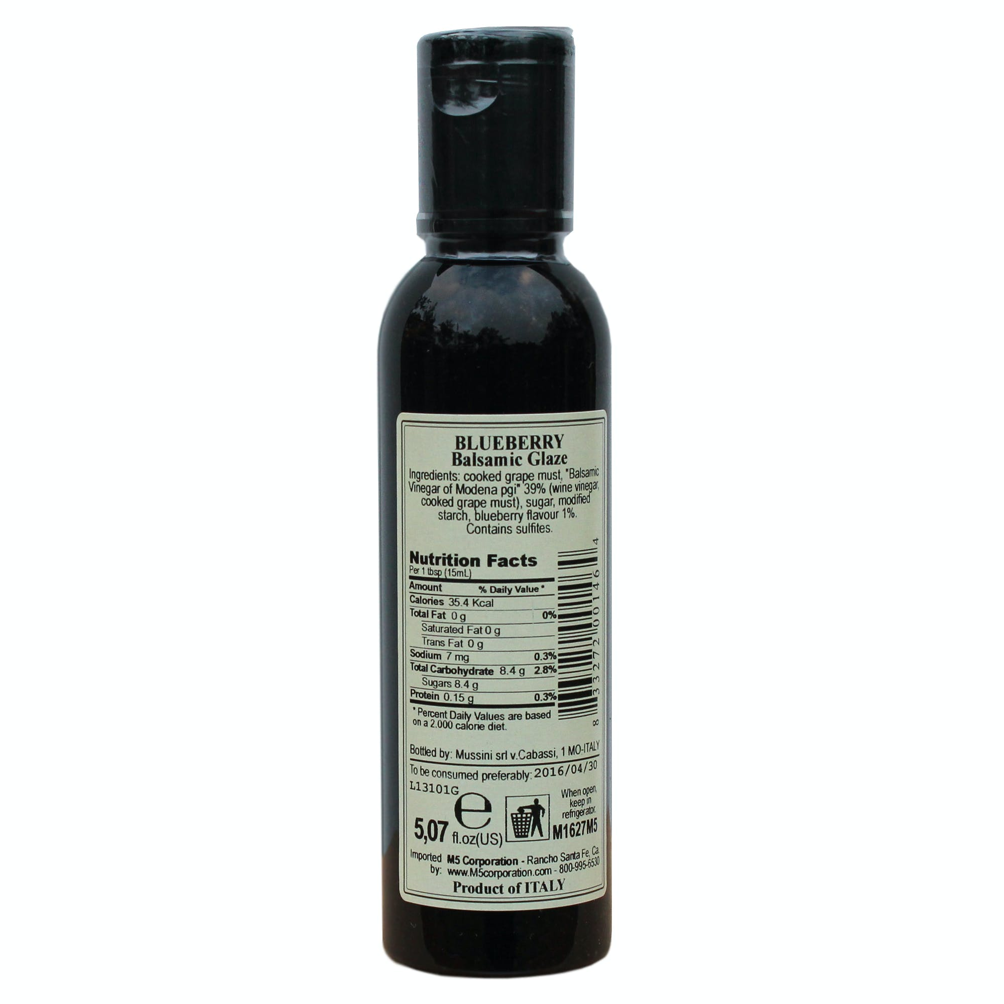 Italian Blueberry Balsamic Glazes From Mussini, 5.1 Ounces - sold by M5 Corporation