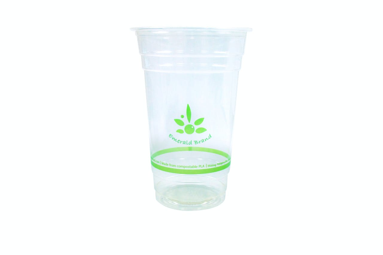 20 oz Compostable Cold Cup Disposable cup sold by Emerald Brand