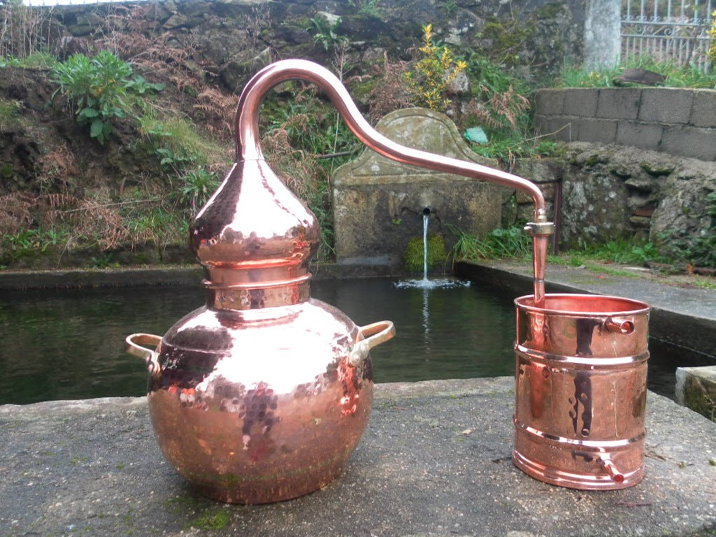 Soldered Union Alembic Still Distillation still sold by Olympic Distillers