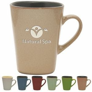 14 Oz. Reactive Glaze Sterling Collection Ceramic Mug - Etched Ceramic mug sold by Ink Splash Promos™, LLC
