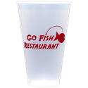20 oz. Custom Disposable Frost Flex Plastic Cups - Disposable cup sold by Cup of Arms