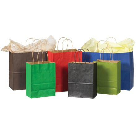 Kraft Tinted Paper Shopping Bags Paper packaging sold by Ameripak, Inc.