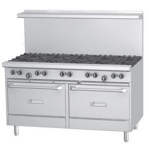 Garland G60-10SS - 10 Burner Gas Range - (2) Storage Bases Commercial range sold by Elite Restaurant Equipment