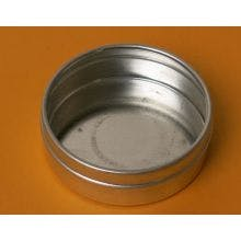 2 Ounce Flat Round Bottom - Seamless Tin Can Metal tins sold by BASCO
