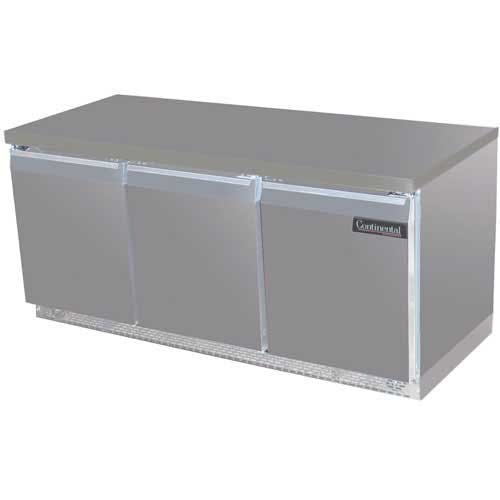 "Continental Refrigerator - SW72-FB 72"" Worktop Refrigerator Commercial refrigerator sold by Food Service Warehouse"
