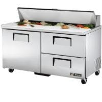 "rue TSSU-60-16D-2 - 60"" 16 Bin 2 Drawer Sandwich/Salad Prep Table Food prep table sold by Prima Supply"