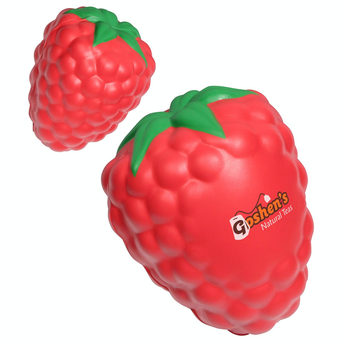 Ariel :: Raspberry With Leaf - LFR-RB10 Stress reliever sold by Distrimatics, USA