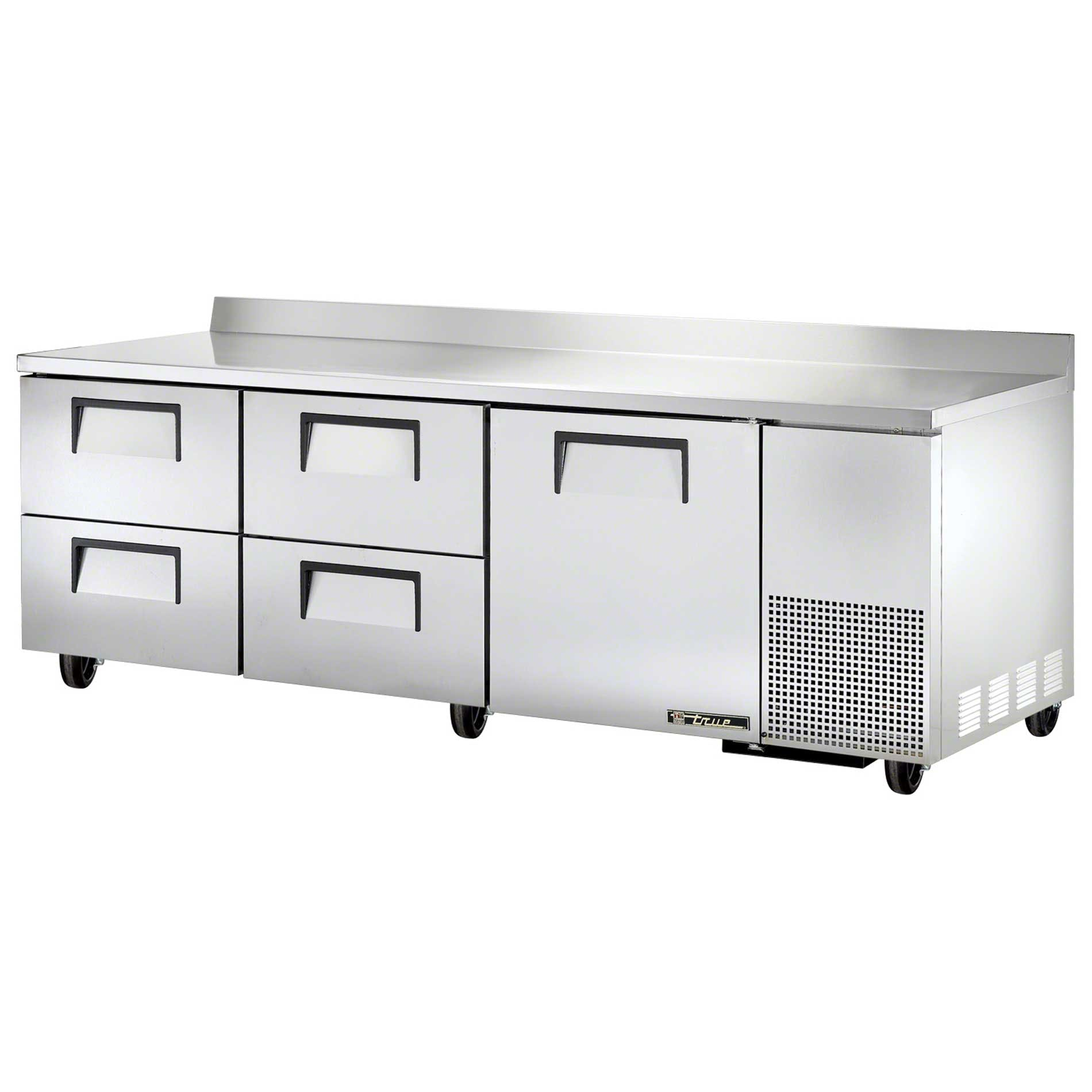 "True - TWT-93D-4 93-1/4"" Worktop Refrigerator w/Drawers Commercial refrigerator sold by Food Service Warehouse"
