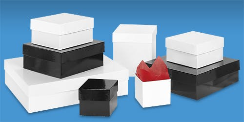 Chipboard gift boxes Cardboard carton sold by Ameripak, Inc.